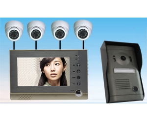 4 Wire 7inch Color Motion Detection Video Door Phone Support Surveillance Camera   PY-V7DVR-P1