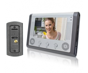 4 wire Villa Type 7inch Video Door Phone System Unlocking Monitoring Intercom PY-V801ME11
