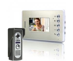 4.3 Inch Video Door Phone Doorbell Intercom with Unlock Monitor Function  PY-V455M11