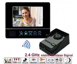 New 7inch 2.4GHz Wireless Video Door Phone Building Entry System  PY-V811FAW11