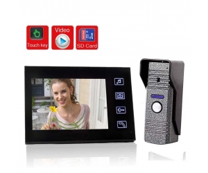 New 7inch Color Video Door Phone CCD Camera with SD card Picture Record Taking Photo  PY-V806ME11REC