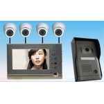 China 4 Wire 7inch Color Motion Detection Video Door Phone Support Surveillance Camera   PY-V7DVR-P1 factory