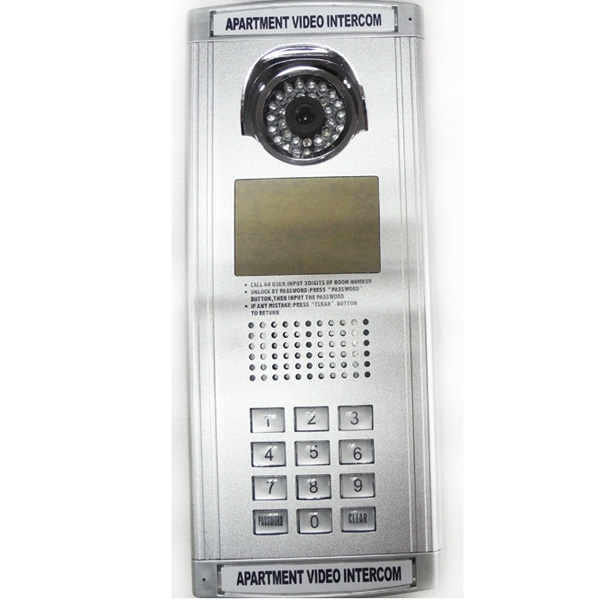 2 Wire Video Door Phone Building Entry System Unlock By Id Card And